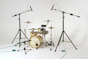 Overhead microphones for drum recording