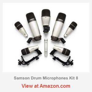 samson 8kit drum microphone kit review microphone geeks. Black Bedroom Furniture Sets. Home Design Ideas